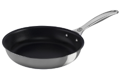 Le Creuset Premium Stainless Steel 9 1/2 inch Deep Nonstick Fry Pan