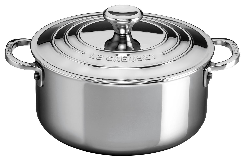 Le Creuset Premium Stainless Steel 3.2 qt. Shallow Casserole w/Lid