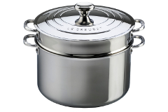 Le Creuset Premium Stainless Steel 9 qt. Stock Pot w/Lid & Insert