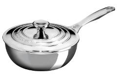 Le Creuset Premium Stainless Steel 2 qt. Saucier w/Lid