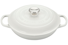 Le Creuset Signature Cast Iron 2 1/4 qt. Braiser - White