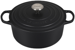 Le Creuset Signature Cast Iron Licorice Round Dutch Ovens