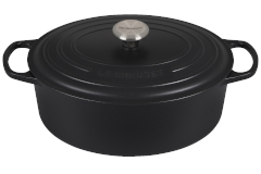 Le Creuset Signature Cast Iron Licorice Oval Dutch Ovens