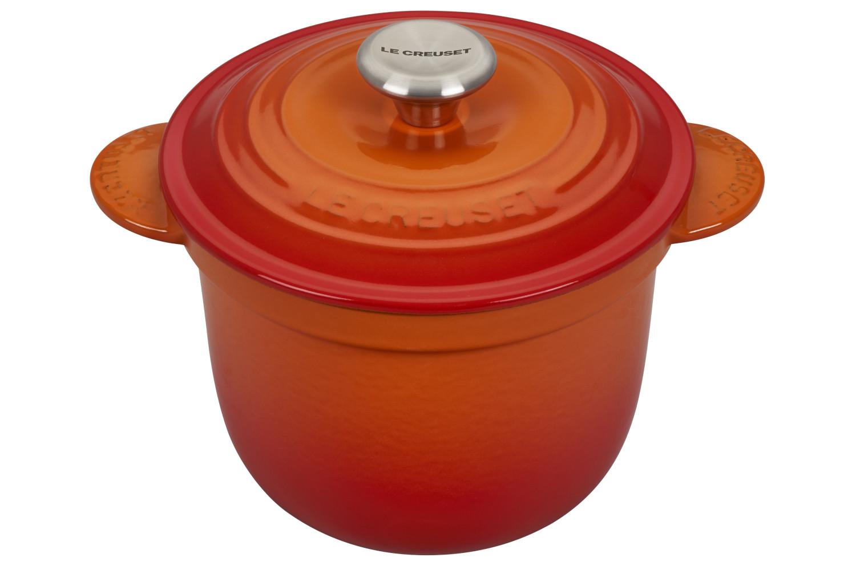 Le Creuset Enameled Cast Iron 2 1/4 qt. Rice Pot w/Insert - Flame