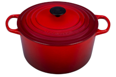 Le Creuset Enameled Cast Iron 5 1/4 qt. Round Deep Dutch Oven - Cerise