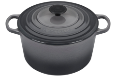 Le Creuset Enameled Cast Iron 5 1/4 qt. Round Deep Dutch Oven - Oyster