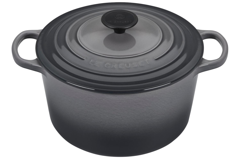 Le Creuset Enameled Cast Iron 5 1/4 qt. Round Deep Dutch Oven - Oyster