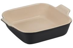 Le Creuset Heritage Stoneware 9 inch Square Dish - Licorice