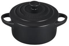 Le Creuset Stoneware Mini Round Cocotte - Licorice