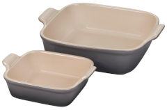 Le Creuset Heritage Square Dish Set - Oyster