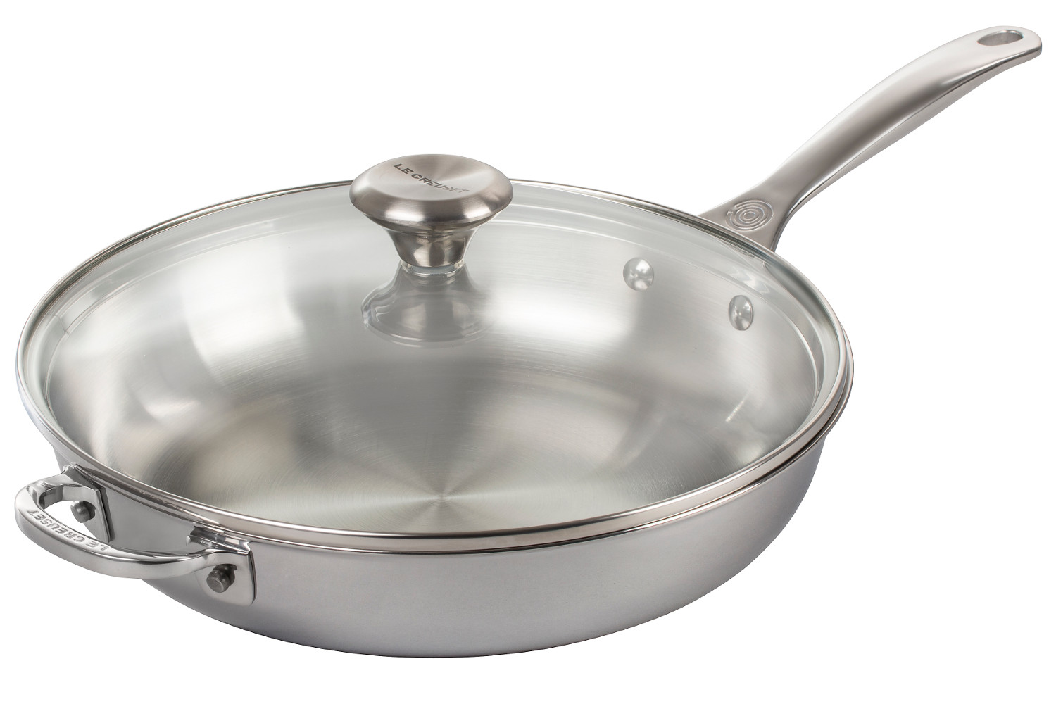 Le Creuset Premium Stainless Steel 11 inch Everyday Pan w/Glass Lid