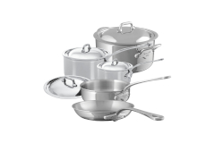 Mauviel M'cook Stainless Steel 9 Piece Cookware Set