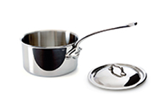 Mauviel M'cook Stainless Steel 1.9 qt. Sauce Pan w/Lid