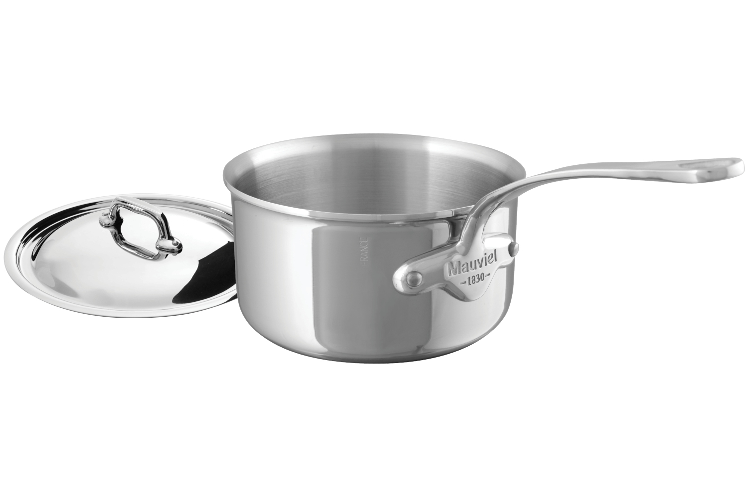 Mauviel M'cook Stainless Steel 1.2 qt. Sauce Pan w/Lid