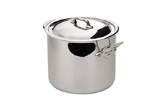 Mauviel M'cook Stainless Steel 9.1 qt. Stock Pot w/Lid