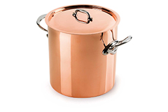 Mauviel Copper M'150S 11.7 qt. Stock Pot w/Lid (Tin Lined)
