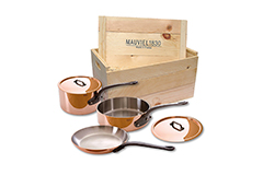 Mauviel Copper M'150C2 5 Piece Cookware Set w/Wooden Crate