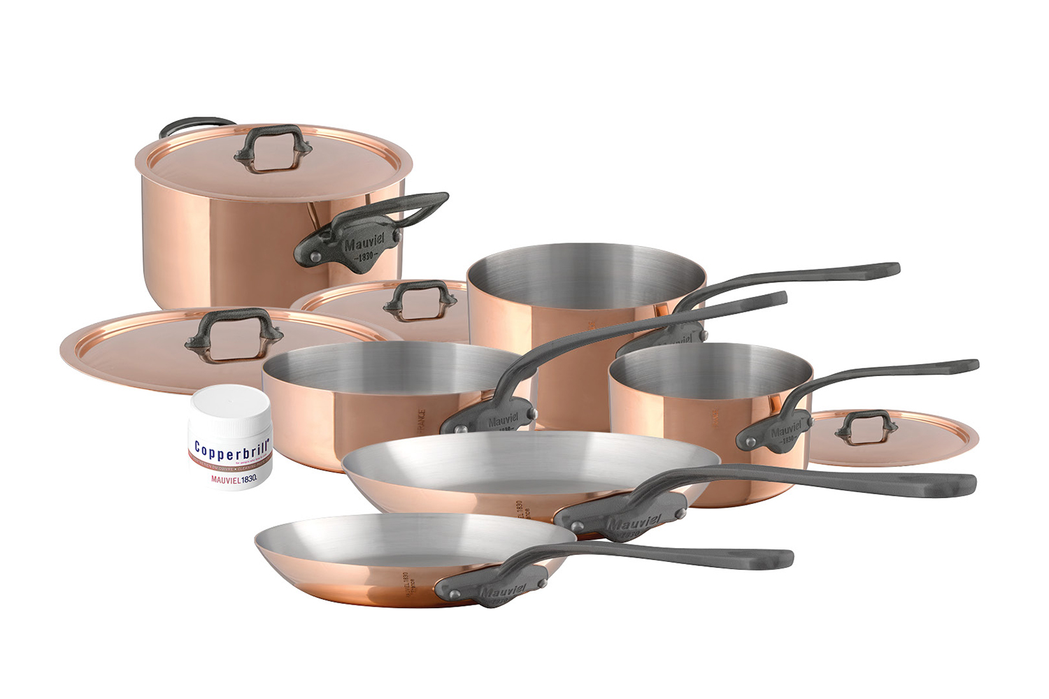 Mauviel Copper M'150C2 10 Piece Cookware Set