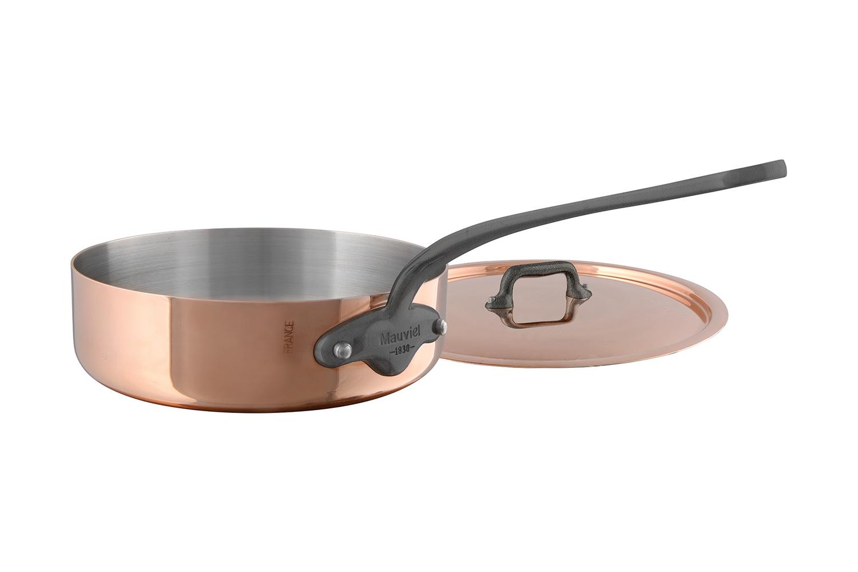 Mauviel Copper M'150C2 3.2 qt. Saute Pan with Lid