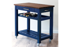 Martin's Home Wares Metro Kitchen Island - Navy Blue