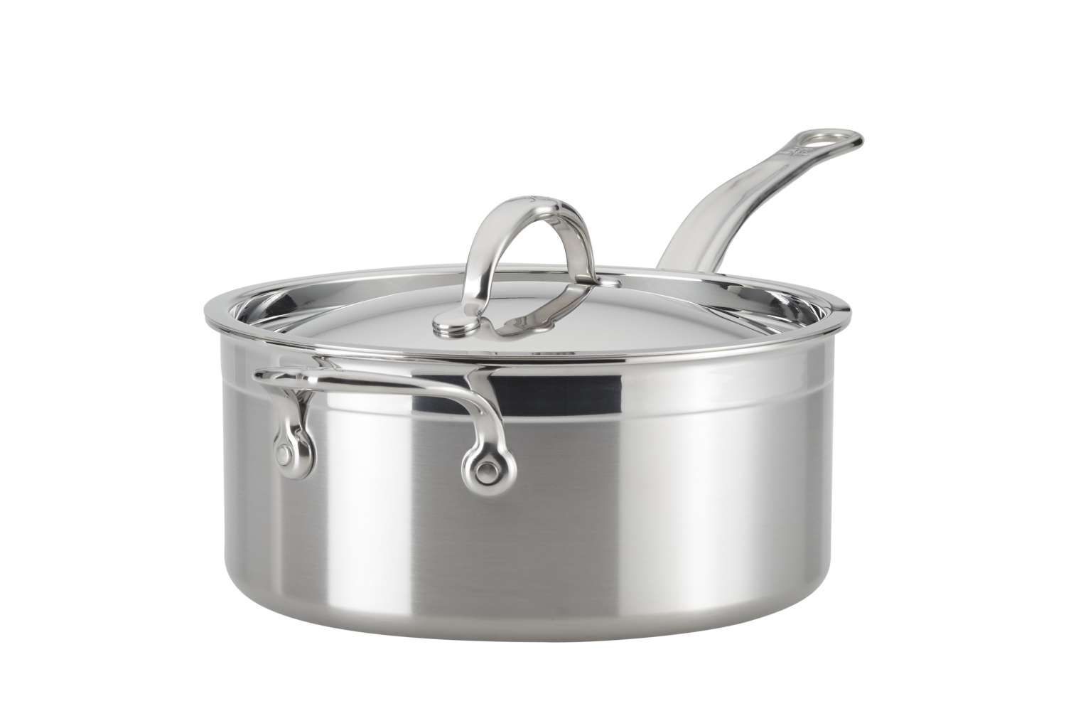 Hestan ProBond Forged Stainless Steel 4 qt. Sauce Pan w/Lid & Helper Handle
