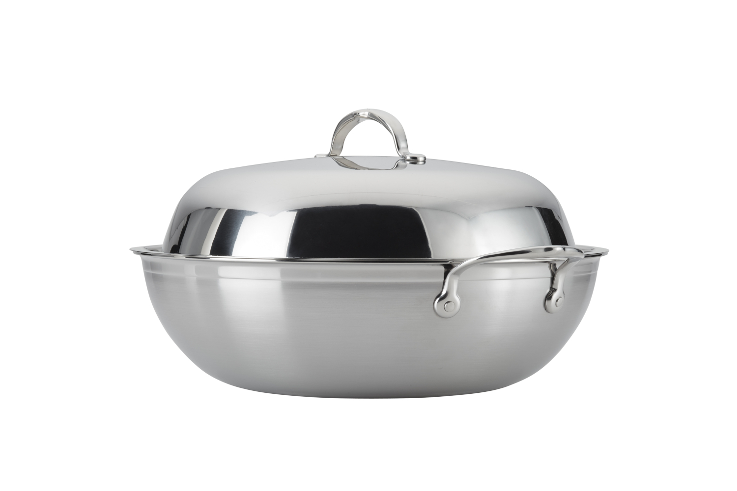 Hestan ProBond Forged Stainless Steel 14 inch Wok w/Lid