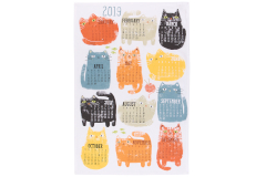 Now Designs Purrfect Year Calendar Dishtowel