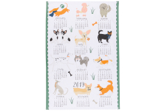 Now Designs Canine Year Calendar Dishtowel