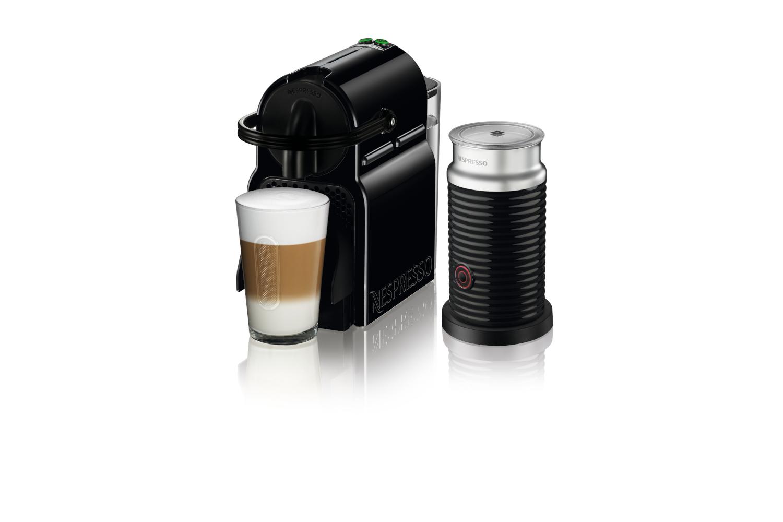Nespresso Inissia Espresso Machine by De'Longhi w/Aeroccino3 - Black