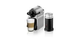 Nespresso Inissia Espresso Machine by De'Longhi w/Aeroccino3 - Silver