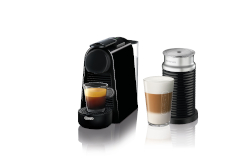Nespresso Essenza Mini Espresso Machine by De'Longhi w/Aeroccino3 - Black
