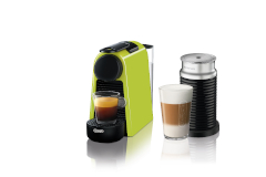 Nespresso Essenza Mini Espresso Machine by De'Longhi w/Aeroccino3 - Lime