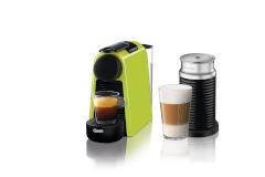 Nespresso Essenza Mini Espresso Machine by De'Longhi w/Aeroccino3 - Lime
