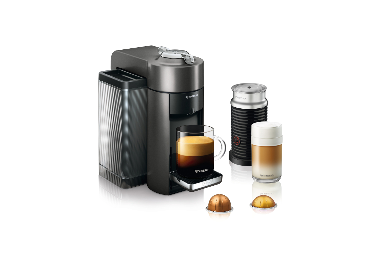 Nespresso Vertuo Coffee & Espresso Machine by De'Longhi w/Aeroccino3 - Graphite Metal