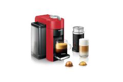 Nespresso Vertuo Coffee & Espresso Machine by De'Longhi w/Aeroccino3 - Red