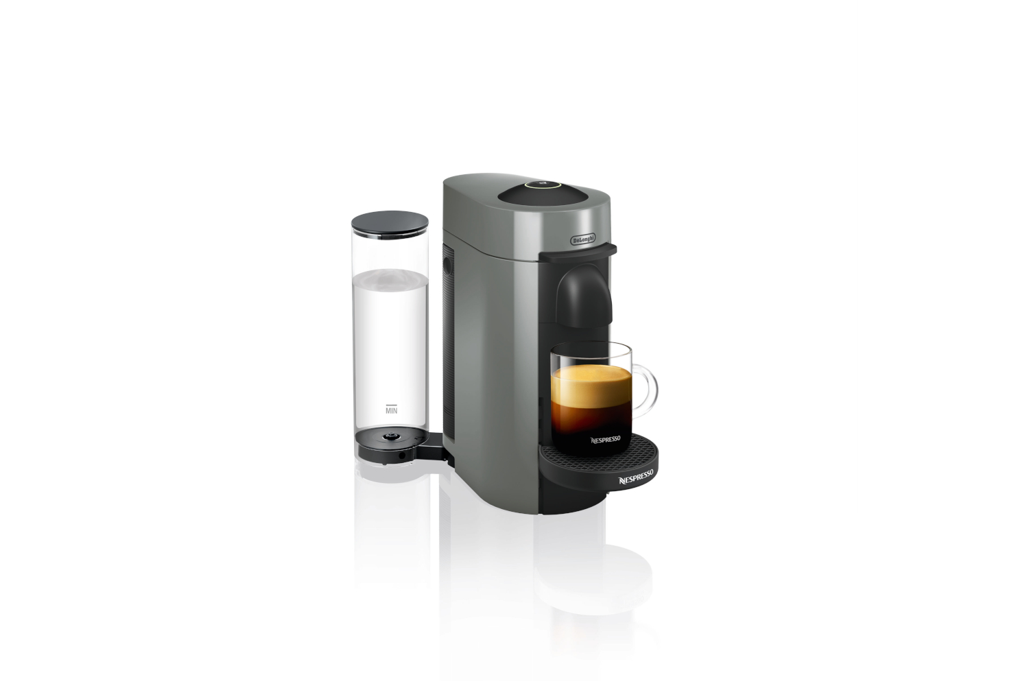 Nespresso VertuoPlus Coffee & Espresso Machine by De'Longhi - Grey