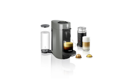 Nespresso VertuoPlus Coffee & Espresso Machine by De'Longhi w/Aeroccino3 - Grey