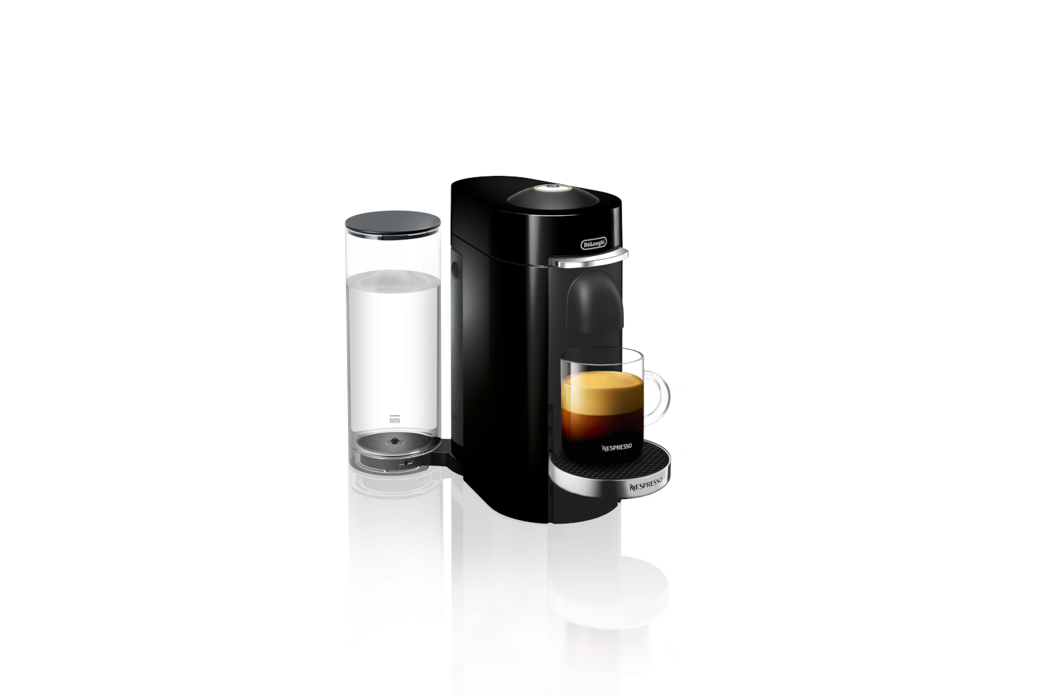 Nespresso VertuoPlus Deluxe Coffee & Espresso Machine by De'Longhi - Black