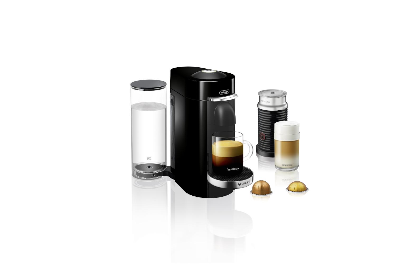 Nespresso VertuoPlus Deluxe Coffee & Espresso Machine by De'Longhi w/Aeroccino3 - Black