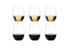 Riedel O Riesling / Zinfandel Stemless Wine Glasses - Set of 6