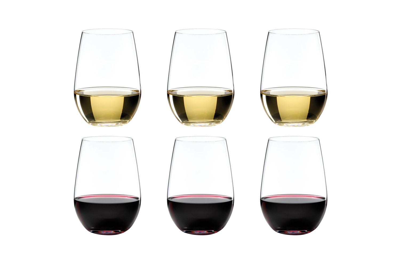 b12862f0566 Riedel Wine Glassware - Riedel O Riesling / Zinfandel Stemless Wine Glasses  - Set of 6