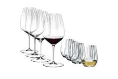 Riedel Performance Set of 4 Cabernet Wine Glass & Optical O Whisky Tumblers