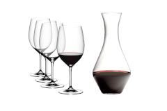 Riedel Vinum Set of 4 Cabernet Wine Glasses + Decanter Bundle