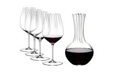 Riedel Performance Set of 4 Cabernet Wine Glasses + Decanter Bundle