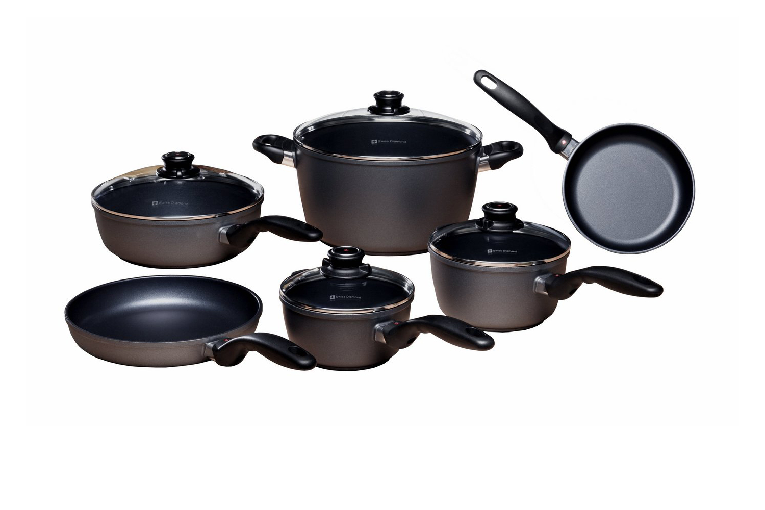 Swiss Diamond Nonstick 10 Piece Cookware Set