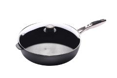 Swiss Diamond Nonstick 5.8 qt. Saute Pan w/Stainless Steel Handle & Lid