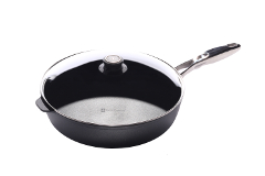 Swiss Diamond Nonstick 5.8 qt. Induction Saute Pan w/Stainless Steel Handle & Lid