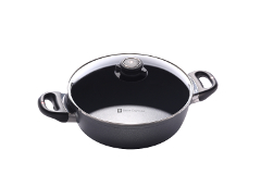 Swiss Diamond HD Classic Nonstick 3.2 qt. Casserole Pan w/Lid