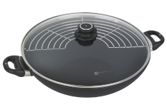 Swiss Diamond Classic+ XD Nonstick 14 inch Wok w/Rack & Lid