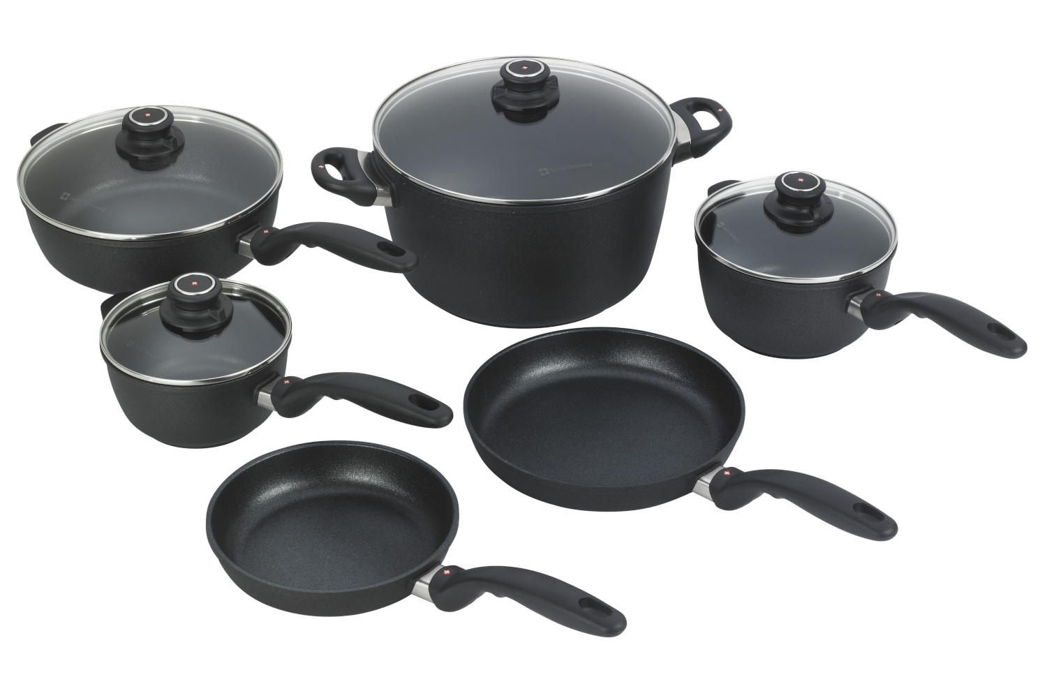 Swiss Diamond Classic+ XD Nonstick 10 Piece Cookware Set